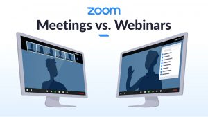 Quando usar Meetings ou Webinars